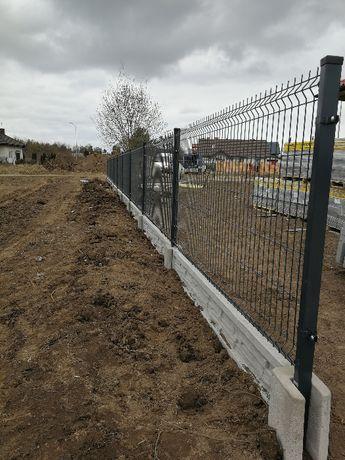 Ogrodzenia betonowe MOBET Panele siatkowe, Podmurówka , Słupki
