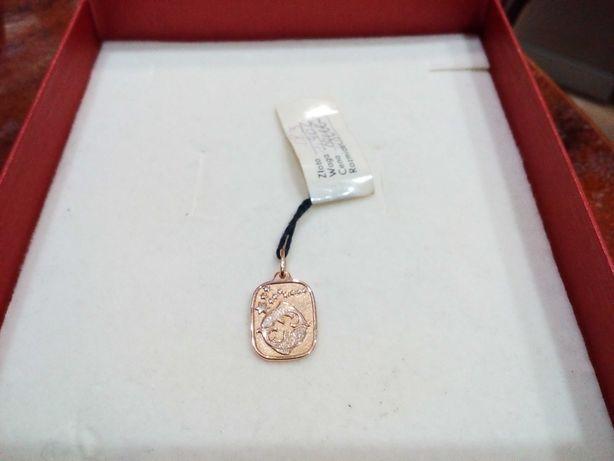 Złoty wisiorek, pr 583, znak zodiaku ryby, nowy.