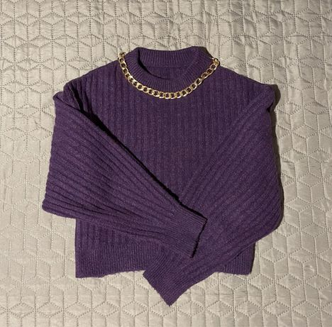Фіолетовий вкорочений светр