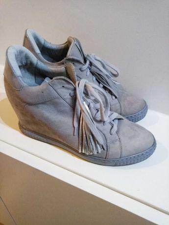 Gianmarko buty, sneakersy, r. 39 szare skórzane