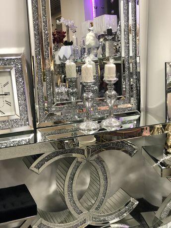 Konsola lustrzana glamour  kryształki 80x120 cm