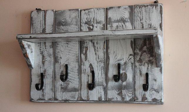 """Wieszak """"Shabby""""- rustykalny, prowansalski, vintage, drewno deski loft"""