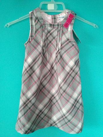 Nowa sukienka dla dziewczynki w kratkę kratę Cool Club 92cm