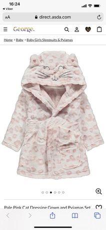 Халат + пижама George для девочки 3-6м