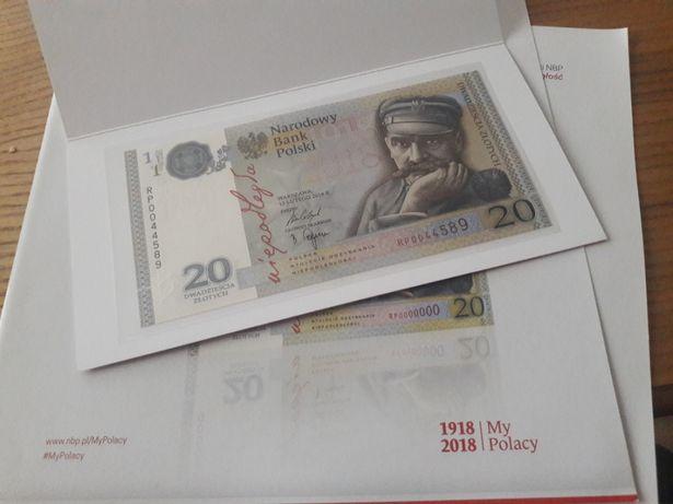Kolekcjonerski Banknot 20 zł na 100 lecie Niepodległości Limitowany