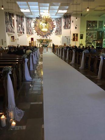 Biały dywan ślubny