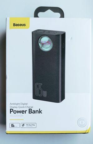 Мощная вшешняя батарея для зарядки ноутбуков до 65 ватт Baseus Базеус