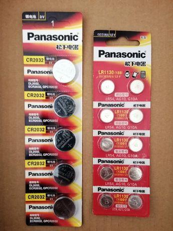 Pilhas de botão Panasonic CR2032, CR2016, CR2025, AG10, LR44