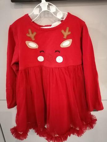 Sukienka świąteczna rozmiar 80