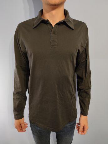 Bluzka BOSS czarna męska L z długim rękawem bluza sport polo