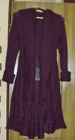 Piękny sweter asymetryczny w falbany marki Wallis r. 40/42