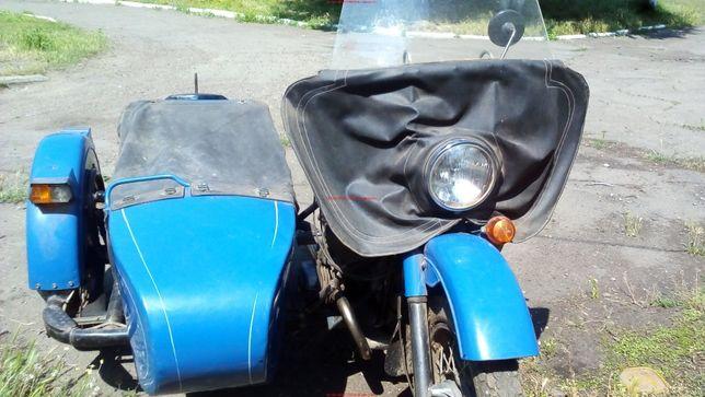 мотоцикл урал синий в отличном состоянии , 7к пробега всего