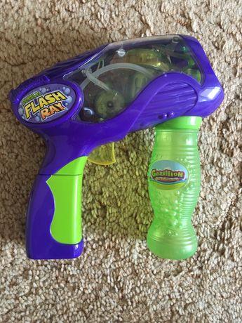 Пистолет Gazillion для выдувания мыльных пузырей Флеш Рей