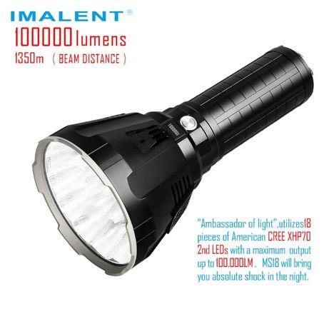 Самый мощный фонарик в мире Imalent MS18 Cree 18*XHP70.2 - 100 000LM!
