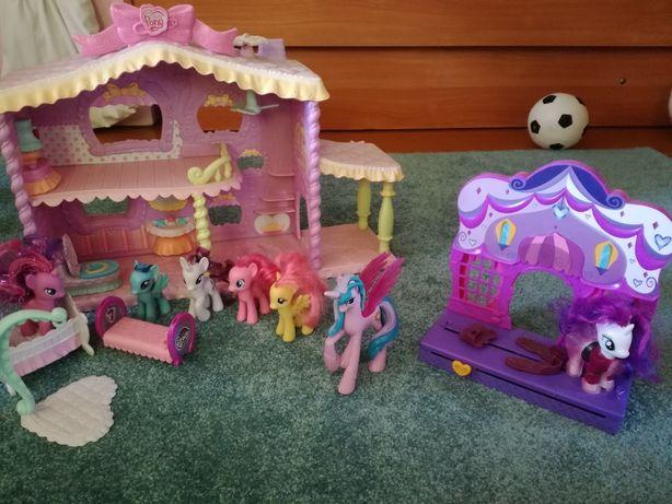 My Little Pony domek,kucyki, Celestia,Butik Raryti Hasbro OKAZJA