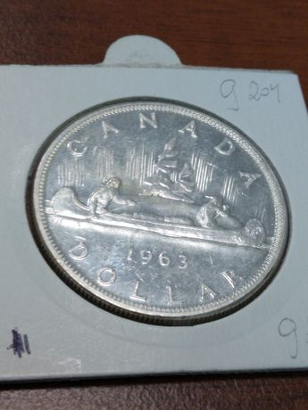 Dollar Kanada 1963 23.32 gram srebra pr 800