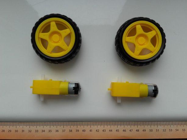 Silnik TT 3V-8V z przekładnią i kołem, do pojazdu, do Arduino itp. NOW