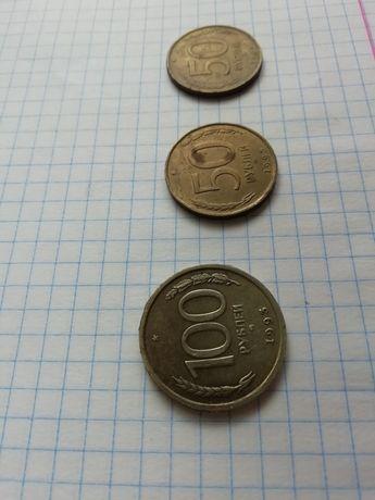 Монеты 1991 и 1993 года 5,50,100 руб