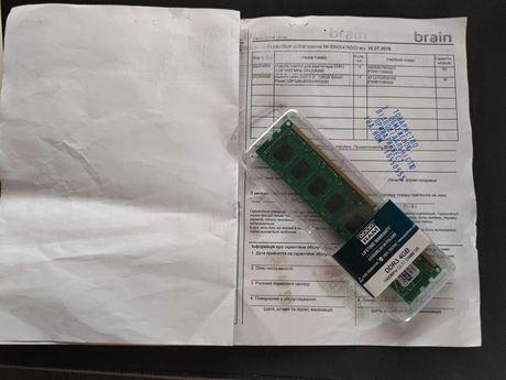 Оперативная память 4Gb DDR3-1600 Goodram GR1600D364L11/4G гарантия 2 г