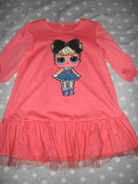 Обалденное платье-туника ЛОЛ для девочки 9-10 лет