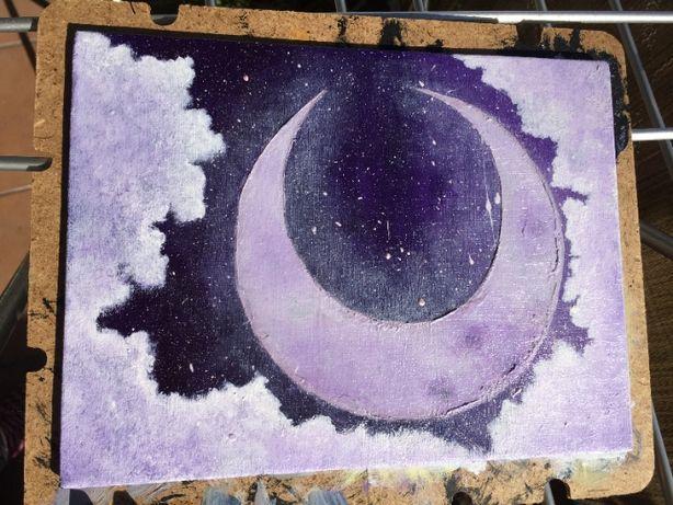"Pintura acrílica em tela-""Moon 7"""