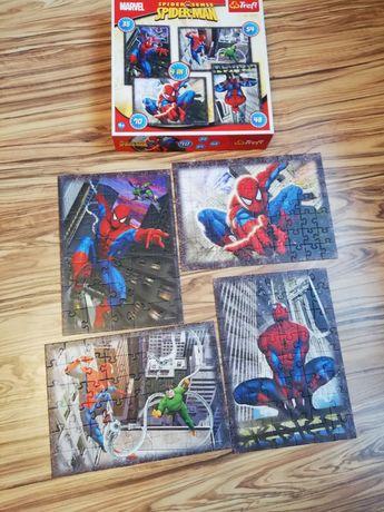 Puzzle spiderman 4 obrazki