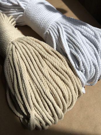 Шнур для макраме / веревка трехпрядная