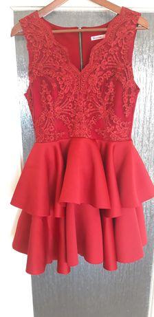 Sukienka brodowa 40r.