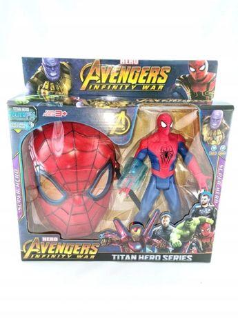 spiderman figurka dźwięk led avengers maska spider-man