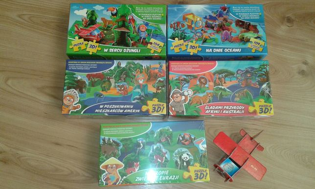 Sprzedam puzzle 3d 6 pudelek cena za calosc
