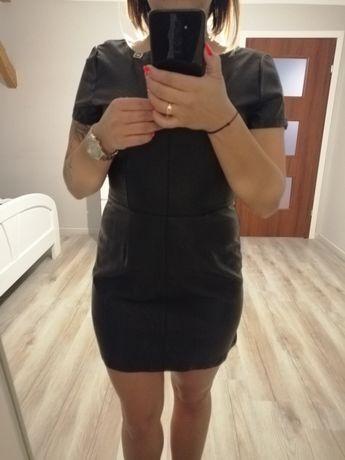 Sukienka mini eko skora