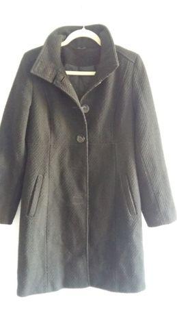 Bay 40 L płaszcz jesienny zimowy czarny wełniany