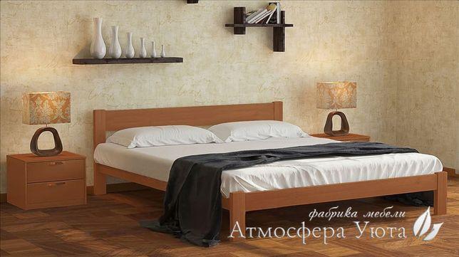 Современная деревянная кровать из натурального дерева массив ольхи