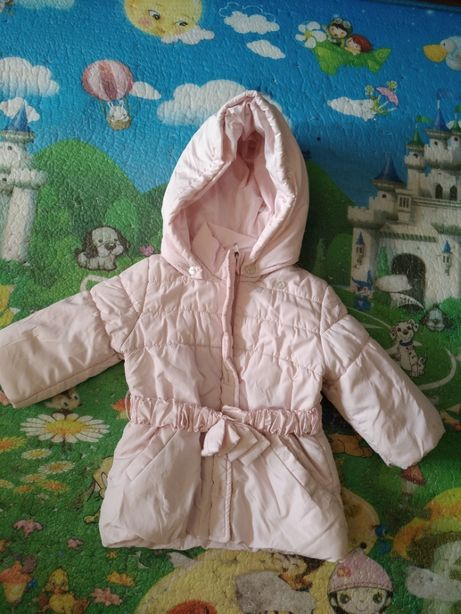Куртка осень/зима, розовая, на 12 месяцев