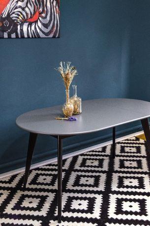 Стол раздвижной круглый. Стол кухонный. Стіл розкладний. Серый, Сканди