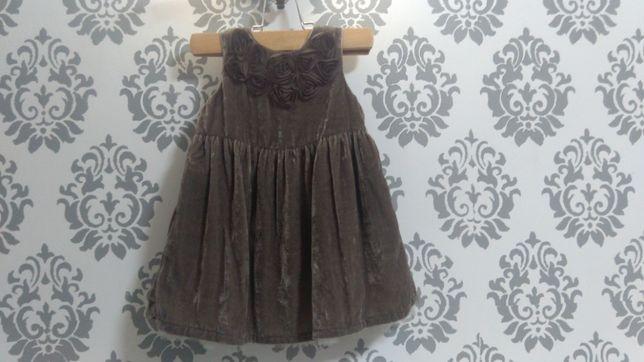 2 нарядных платья на девочку 4-9 месяцев