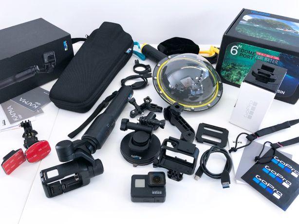 GoPro 7 BLACK + gimbal GoPro Karma Grip + oryginalne akcesoria