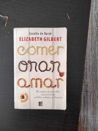 "Livro "" Comer, orar e amar"", formato de bolso"