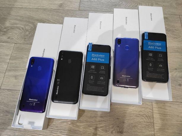 Смартфон Blackview A60 Plus Black Blue 4/64Gb 4080mAh And 10+чехол
