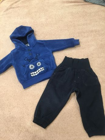 Lupilu брюки вельветовые, штаны, свитер 74-80 см Next, Carters