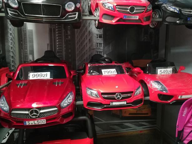 Oryginalny samochód Mercedes Benz C63 AMG na akumulator Skóra Koła EVA