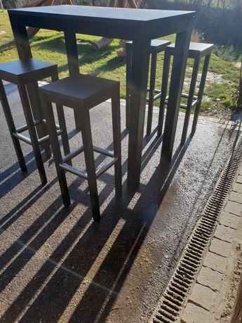 Stół z 4 hokerami