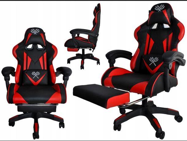 Fotel gamingowy Malatec czarno-czerwony