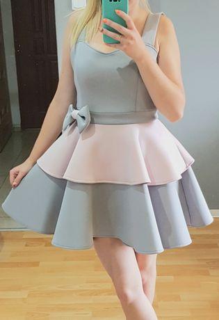 Sukienka rozkloszowana piankowa wesele bal