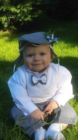 Garniturek ubranko strój zestaw do chrztu dla chłopca