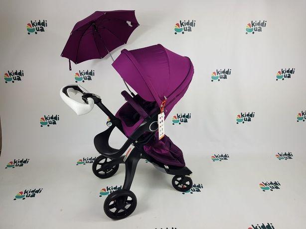 Новая dsland V6/V8 фиолетовая коляска 2в1 люлька прогулка аналог stokk
