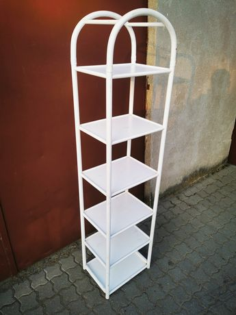 Wysoki regał bambusowy półka z niemiec stojak meble biały