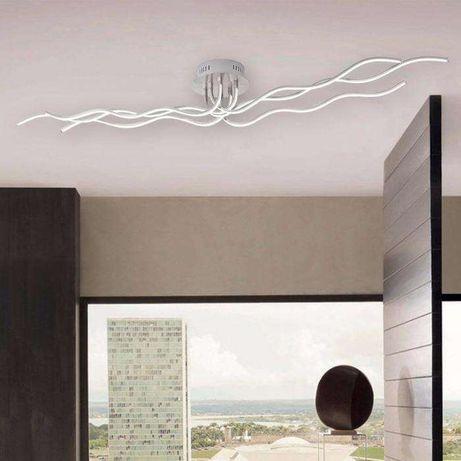 Nowoczesna lampa sufitowa fale WAVE LED pilot ściemniacz OUTLET