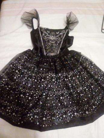 Пышное карнавальное платье на Хэллоуин, 11-12 лет