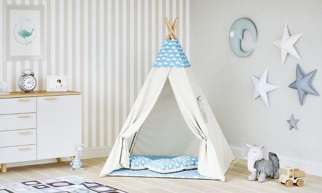 NAMIOTY TIPI dla dzieci do POKOJU bawełniany 3 poduszki WYSYŁKA 24H